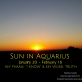 Sun in Aquarius - January 20 - February 18 - Happy Birthday!!!