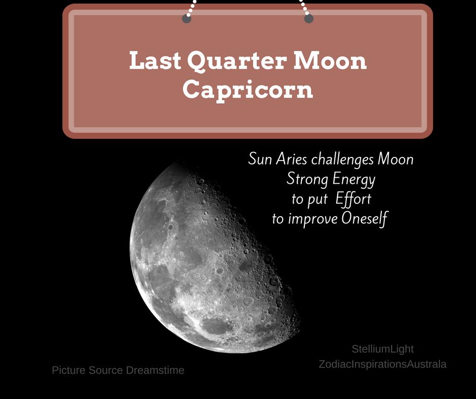 Last Quarter Moon in Capricorn - March 21, 2017 - Zodiac