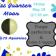 Last Quarter Moon in Aquarius to make it happen!!!