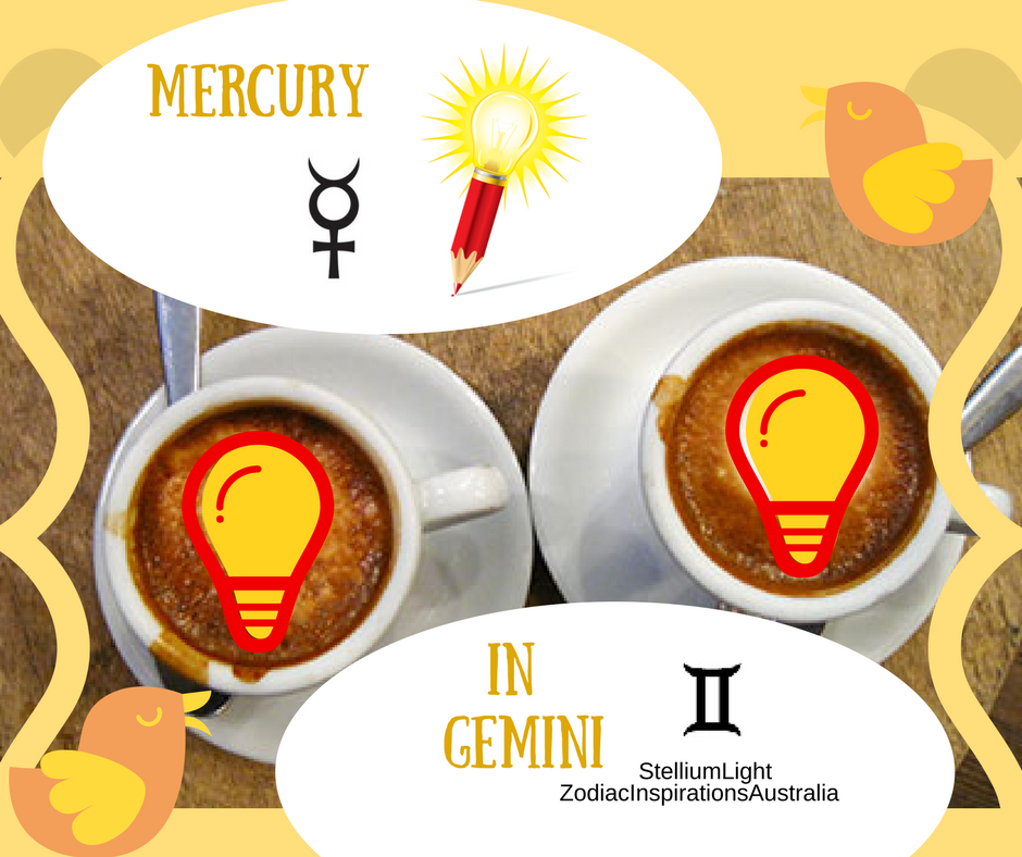 Mercury in Gemini to communicate ideas... We must be quick as it will be at his home for only 2 weeks