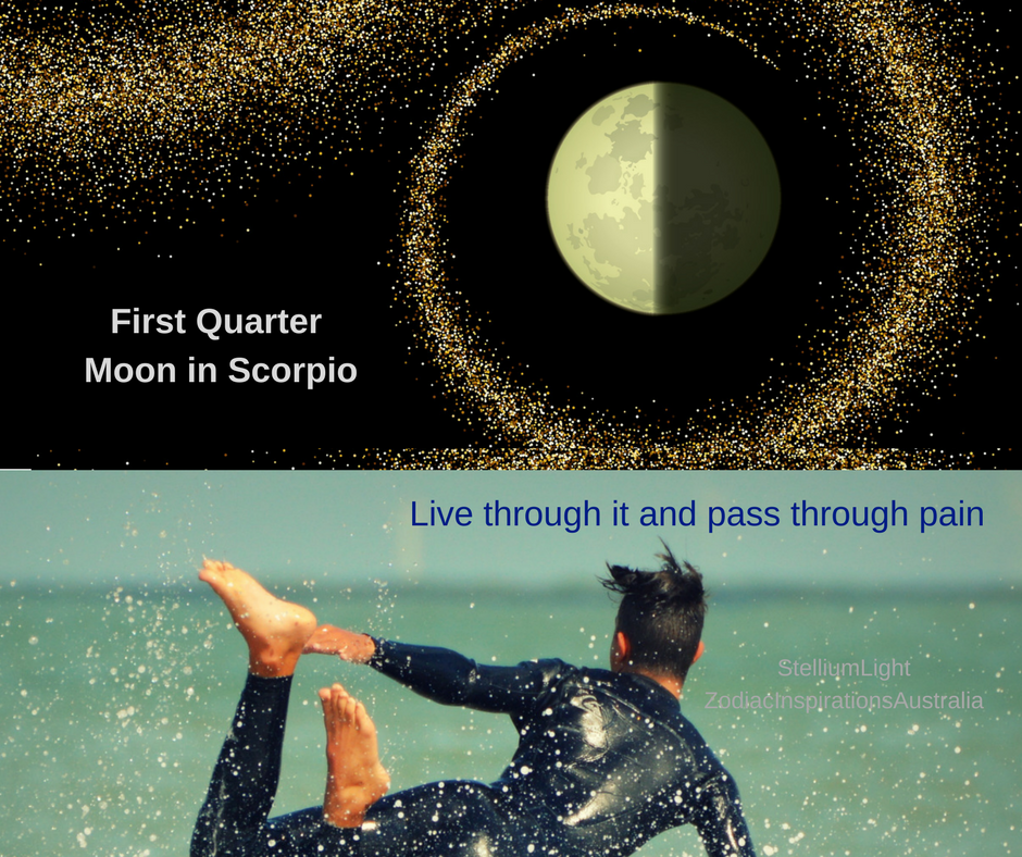 Moon in Scorpio - First Quarter Moon Phase - encounter with our inner self!