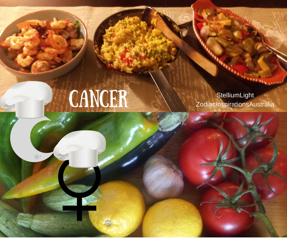 Moon in Cancer & Venus in Cancer offer a loving emotional days to enjoy cooking for family and friends