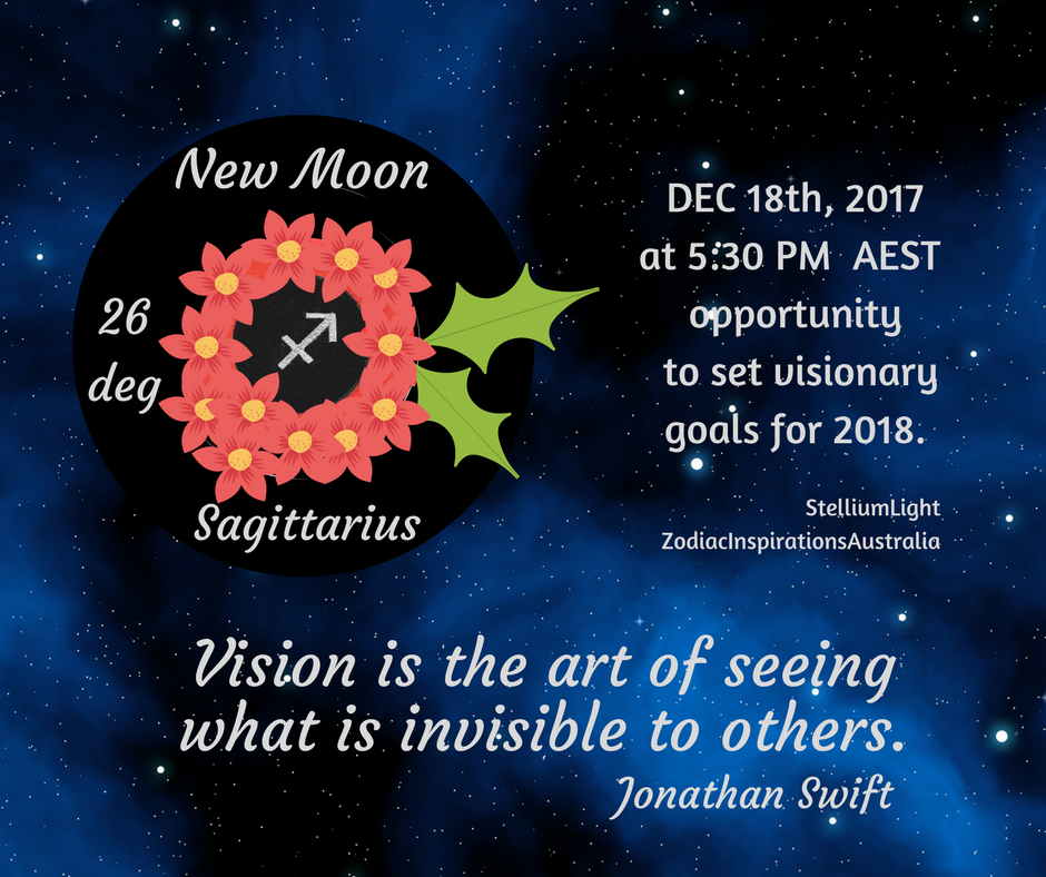 ♐Sagittarius New Moon 🌑fills us with joy, celebration and optimism opening the road to plant intentions for 2018!
