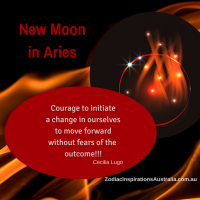 New Moon in Aries brings courage to make a change in ourselves to move forward - 16 April 2018