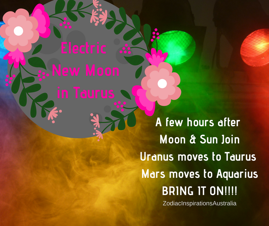 Taurus New Moon  to plant your seeds of change in your MoonBoard