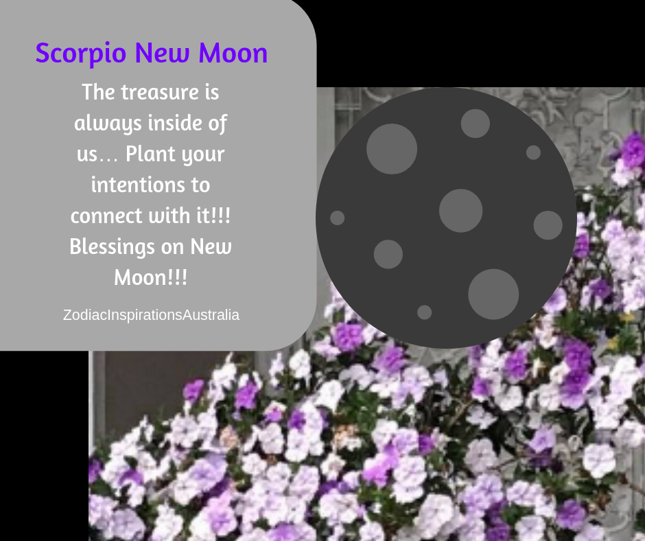 Scorpio New Moon to heal a wound!