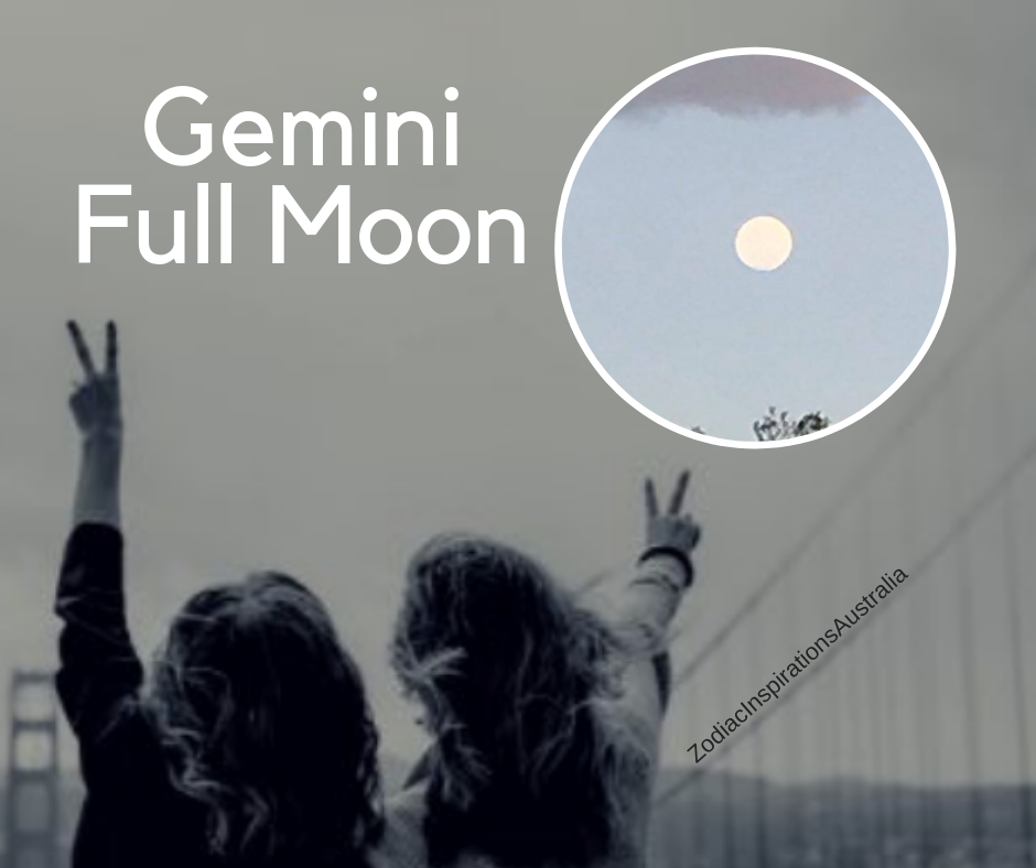 Gemini Full Moon to be present and have a good conversation!