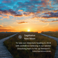Sagittarius New Moon to take take our adventure heading to 2019 with confidence believing in our talents!