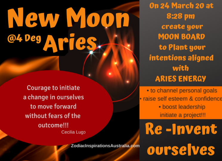 New Moon in Aries  - A New Beginning!!