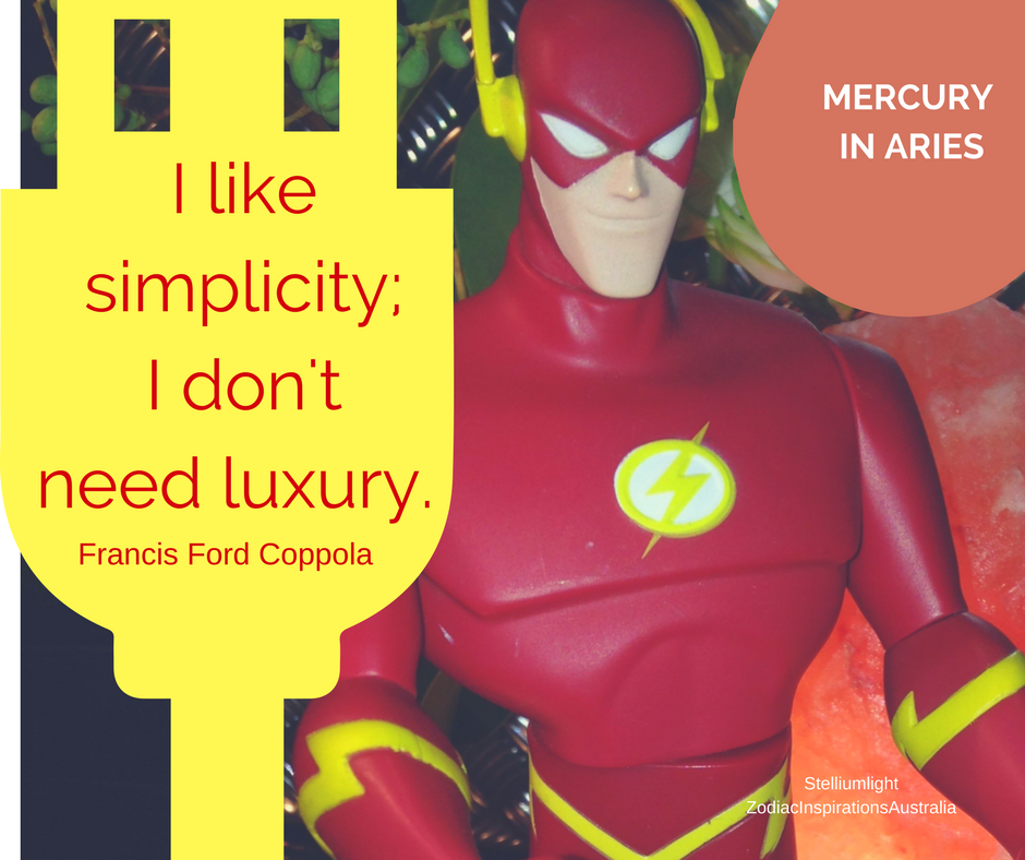 Flash your mind with Mercury in Aries