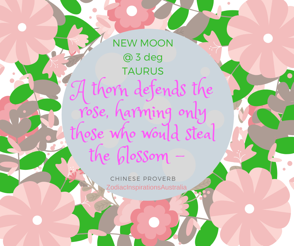 New Moon in Taurus -  take care of the garden of our lives