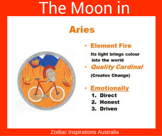 Zodiac Inspirations Australia Moon in Aires