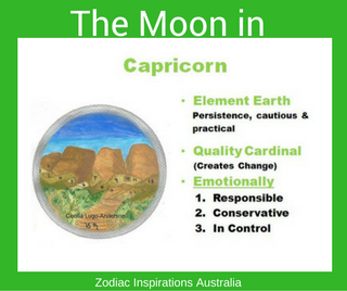 Zodiac Inspirations Australia Moon in Capricorn