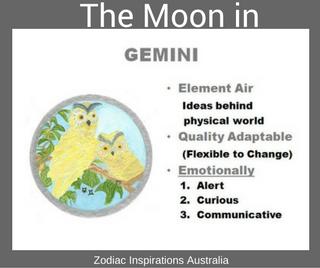 Zodiac Inspirations Australia Moon in Gemini