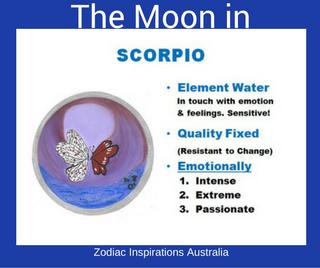 Zodiac Inspirations Australia Moon in Scorpio