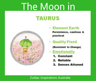 Zodiac Inspirations Australia Moon in Taurus